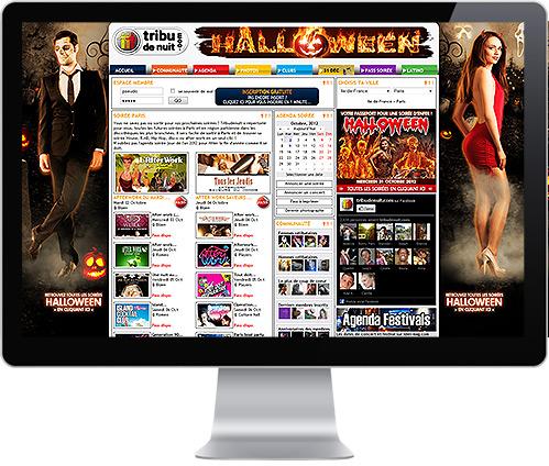 Création de design événementiel site web