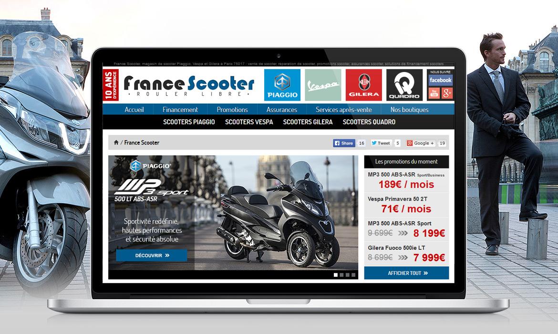 sp cialiste cr ation de site web pour magasin de scooter. Black Bedroom Furniture Sets. Home Design Ideas