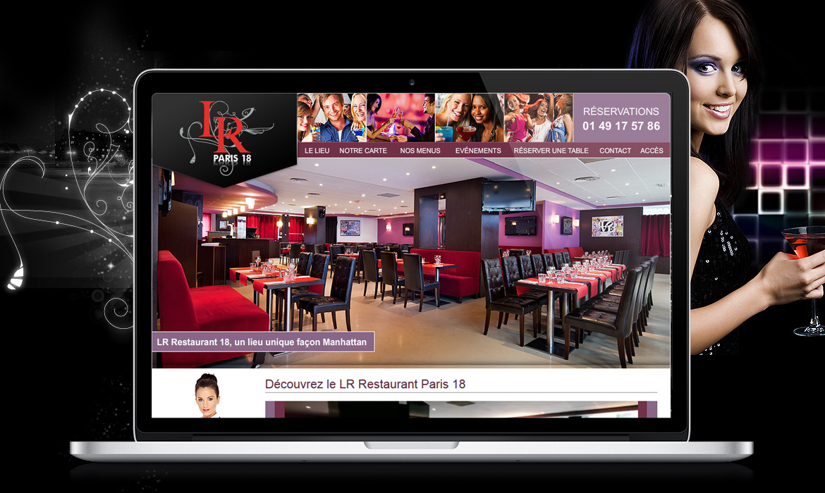 Agence de cr ation web pour restaurant for Restaurant miroir paris 18