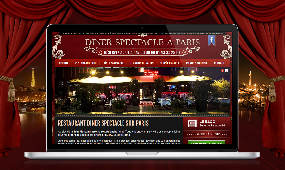 Diner spectacle Paris Montparnasse