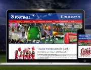 Animatiosn football : site web responsive utilisant technologie WordPress