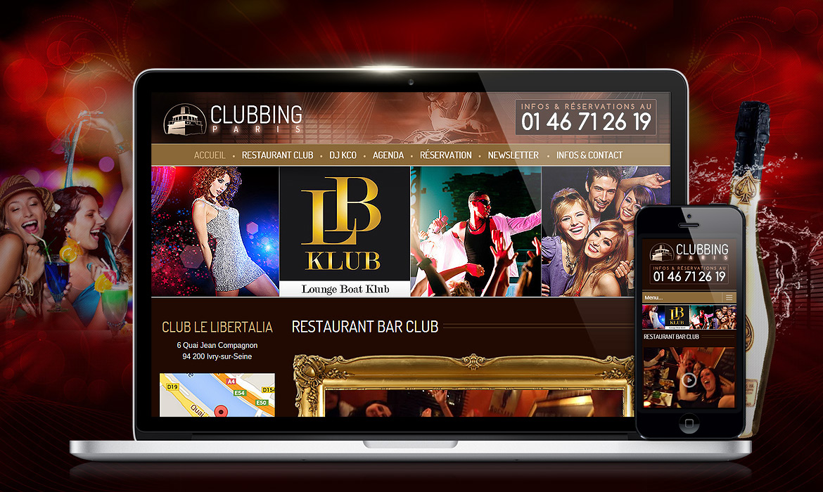 Clubbing-paris.fr : Site Wordpress Responsive SEO