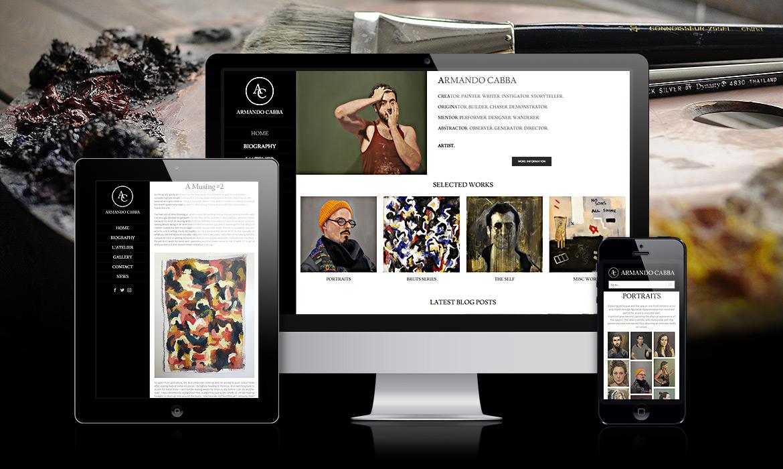 Armando Cabba, artiste peintre, création de site web artistique