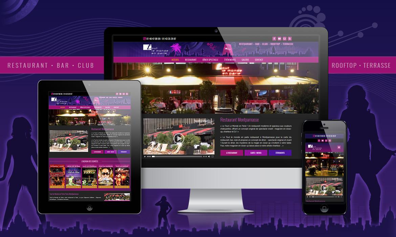 Création du site web du restaurant TLMP responsive à Paris