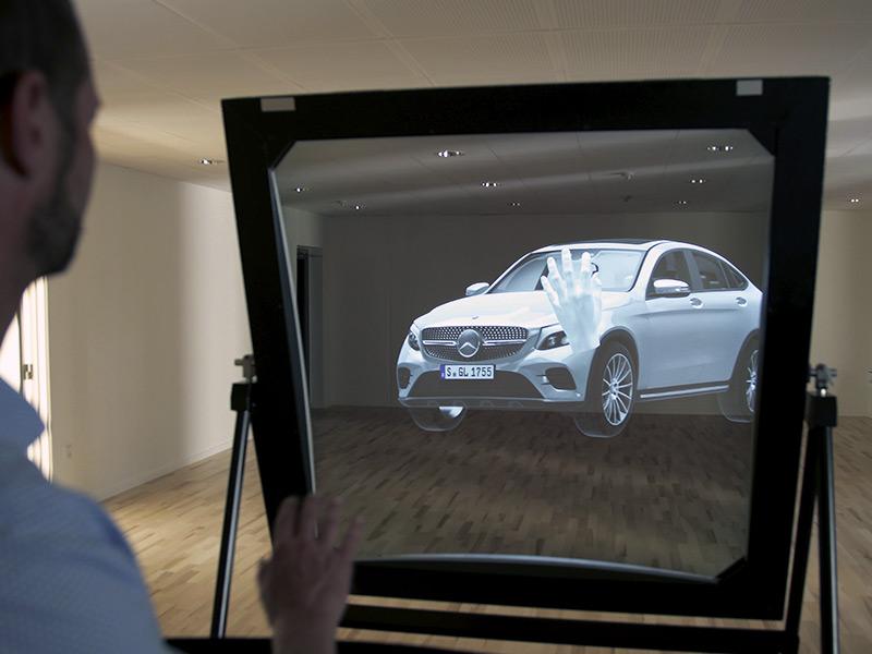 Holographic mixed reality showcase: DeepFrame
