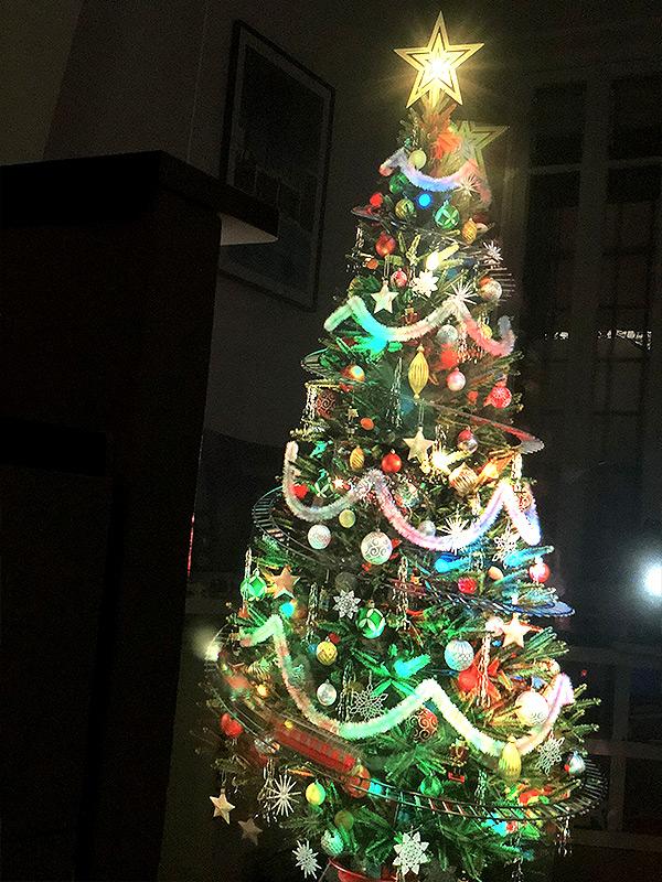 Arbre de Noël en hologramme