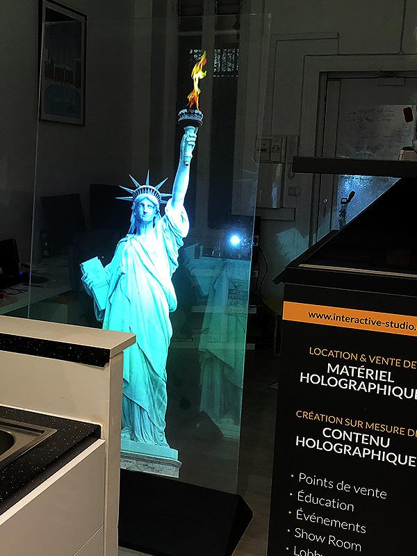 Statue de la liberté holographique