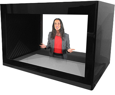 Vitrine holographique ONE FACE BOXED