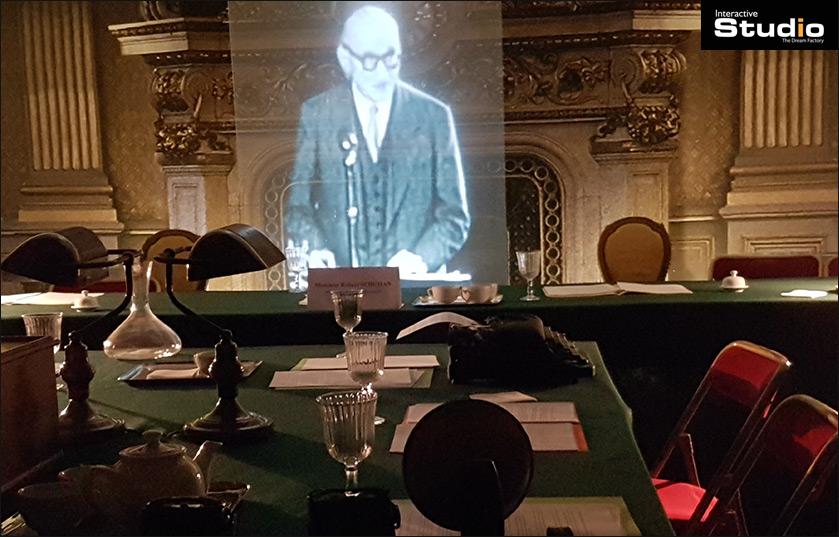 Hologramme taille réel Robert Schuman