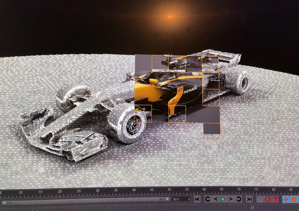 Cinema 4D : Création de l'hologramme de la Renault R.S.18