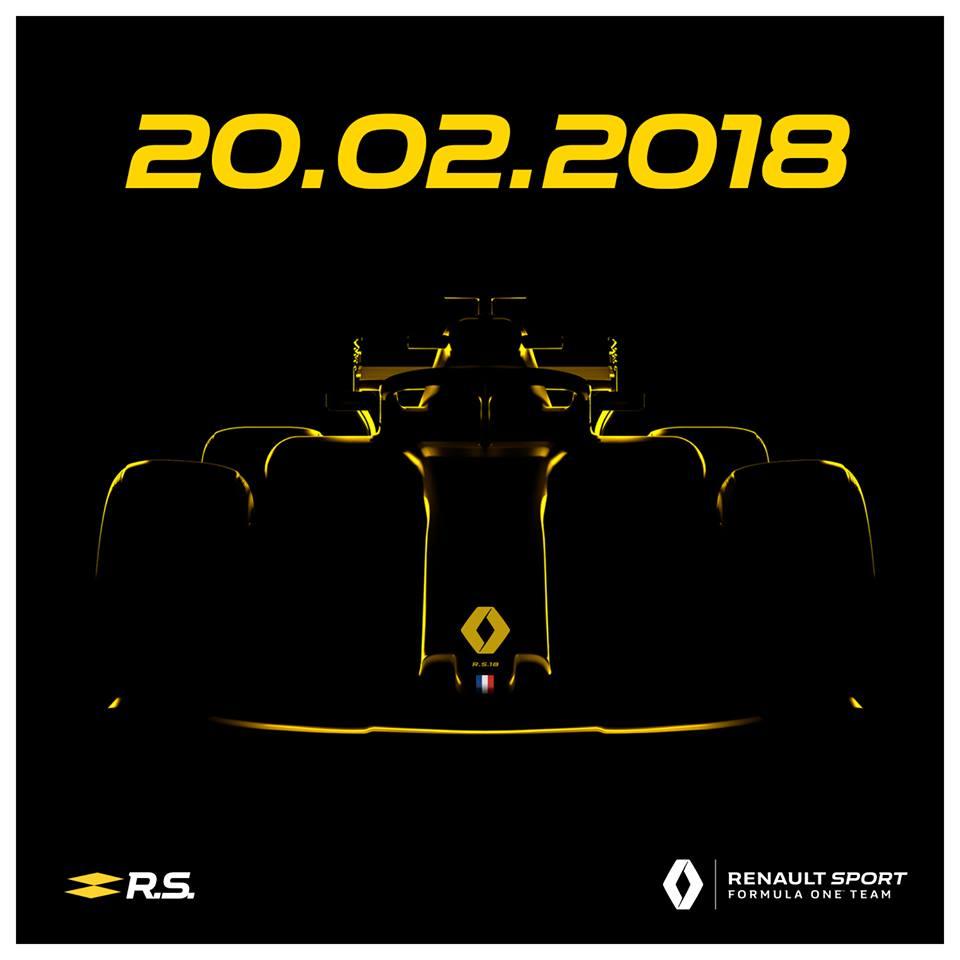 Image de teasing de la Renault R.S.18 sur les réseaux sociaux