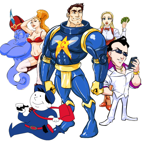 Création de mascottes cartoon