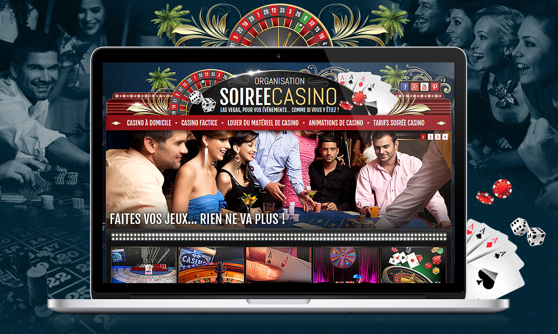 Organisation soirée de casino (location matériel)