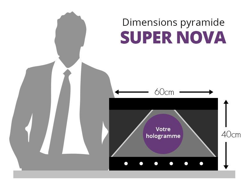 Tailles et dimensions de la pyramide SUPER NOVA