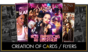 Creation of cards / flyers