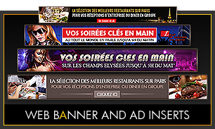 Web banner and Ad inserts