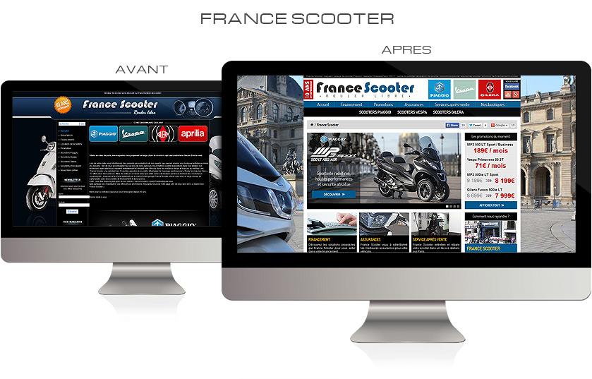 Refonte graphique site web France Scooter