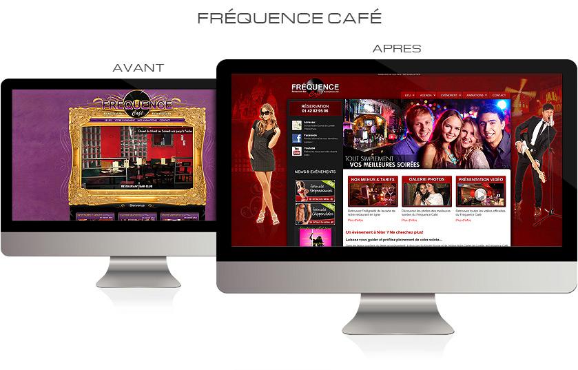 Refonte graphique site web Fréquence Café