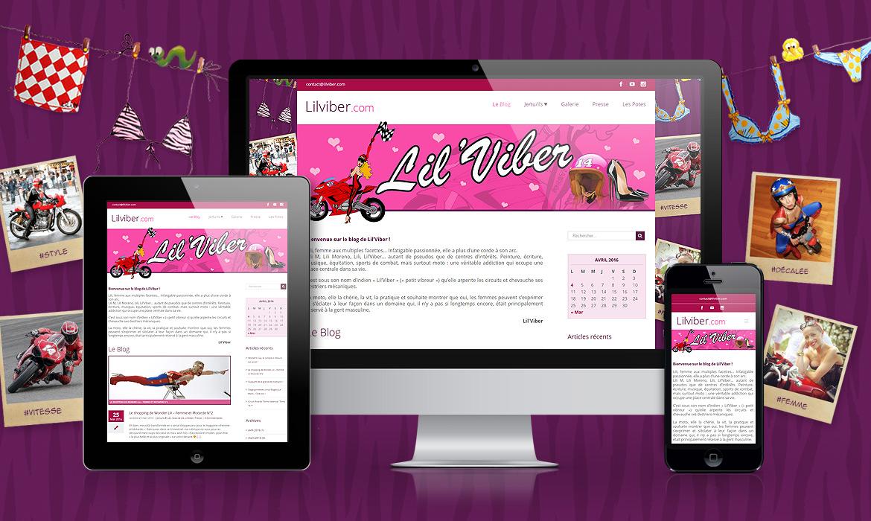 Création de Blog féminin sur la moto : Lil'Viber
