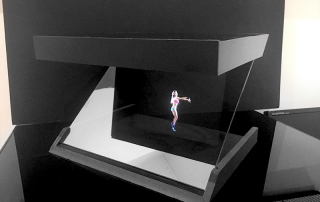 Vitrine Holographique One Face - Hologramme danseuse