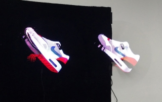 Hologramme 3D flottant Sneakers