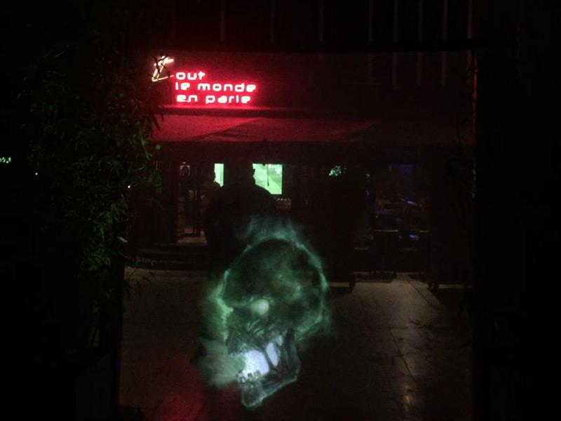 Voile holographique pour projection avant / arrière