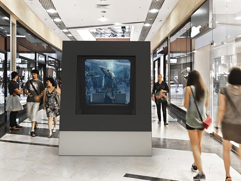 DeepFrame One : vitrine holographique de réalité mixte