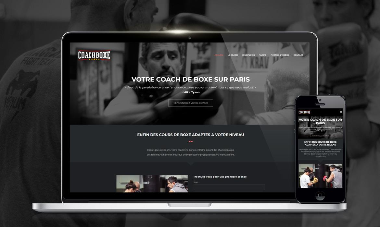 Création de site web coaching boxe, cours de boxe personnalisés Eric Cohen