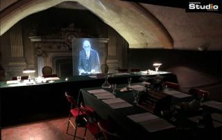 Real size hologram at Robert Schuman museum