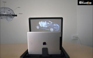 Vitrine holographique de réalité mixte : Deepframe mobile !