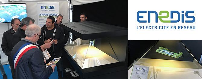 Pose de première pierre hologramme 3D ENEDIS