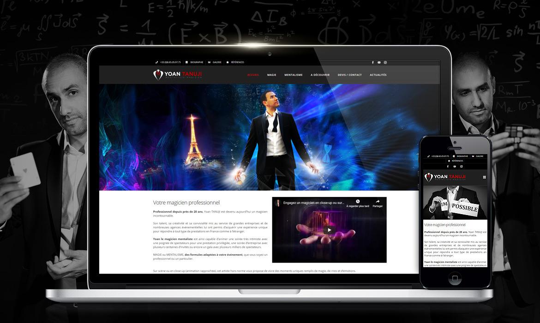 Création de site web pour le Magicien mentaliste Yoan Tanuji