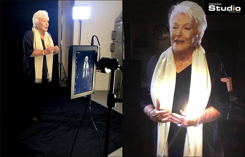 Création hologramme de Line Renaud