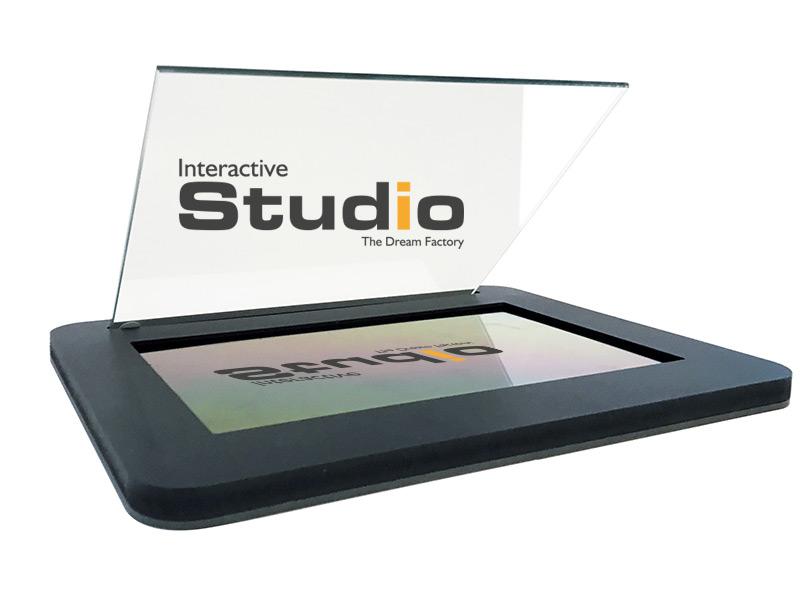 Vente vitrine hologramme tablette iPad Galaxy Tab ZED Naked