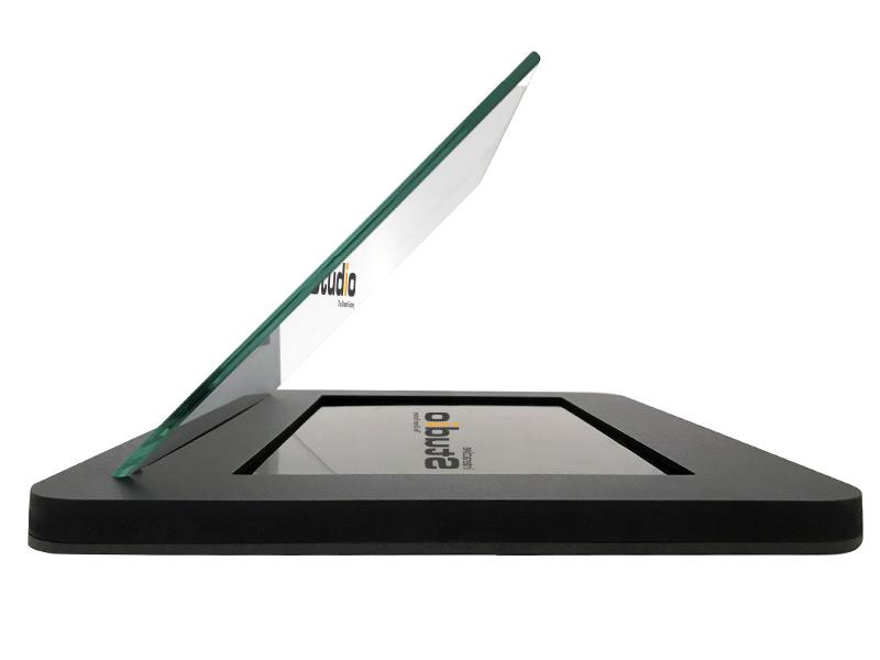 Vitrine animation hologramme tablette tactile iPad