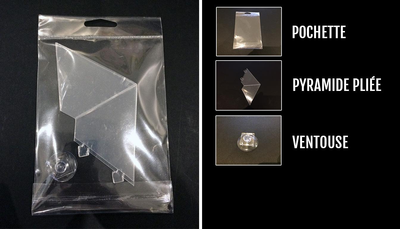 Kits holographiques pour smartphone bruts