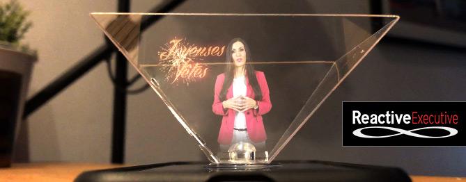Carte de vœux holographique Reactive Executive
