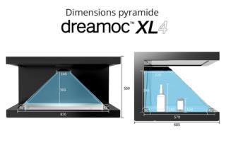 Pyramide holographique Dreamoc XL4