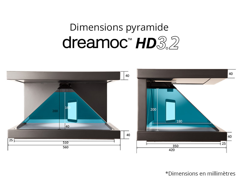 Dimensions Dreamoc HD3.2