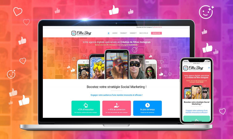 Agence création de site web responsive : Filtre Story