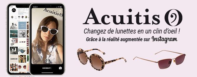 Création de filtre en Réalité Augmentée pour Instagram pour la marque Acuitis