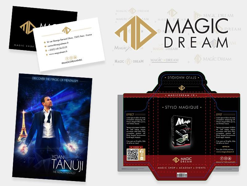 Création d'identité graphique pour Magic Dream