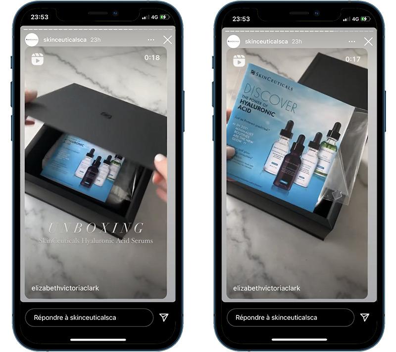 Influenceurs et le goodies holographique Magic Hologram pour les produits Skinceuticals